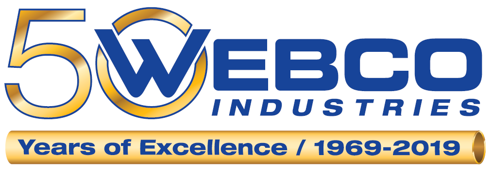 Webco Industries 50th anniversary logo
